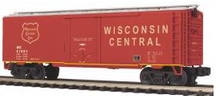 MTH Premier Wisconsin Central 40' Plug Door (bunkerless)  Reefer, 3 rail, Like New