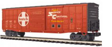 "MTH Premier Santa Fe 50' 1970's-later  Waffle side  ""Shock Control"" Box car, 3 rail"