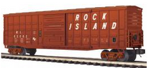 MTH Premier Rock Island 50' 1970's-later  Waffle side  Box car, 3 rail