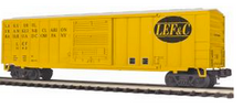 MTH Premier LEF&C 50' 1970's-later Box car, 3 rail