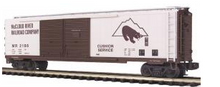 MTH Premier McCloud River  50' Double  Door Box car, 3 rail