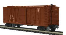MTH Premier B&M 40' Single Sheathed (wood) Box car, 3 rail