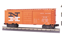 MTH Premier NH  (orange)   40'  steel Box car, 3 rail