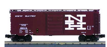 MTH Premier NH  (tuscan, block letters)   40'  steel Box car, 3 rail