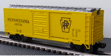 MTH Premier PRR (M/W yellow)   40'  steel Box car, 3 rail