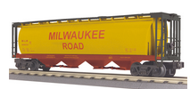 MTH Railking MILW cylindrical covered hopper car, 3 rail