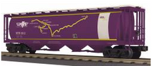 MTH Railking MTHRRC (map) cylindrical covered hopper car, 3 rail