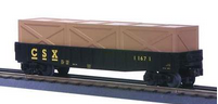 MTH Railking CSX gondola w crates, 3 rail