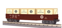 MTH Railking PRR Gondola Car with PRR crates, 3 rail