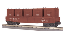 MTH Railking PRR Gondola Car with LCL containers, 3 rail
