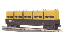 MTH Railking Caterpillar Gondola Car with LCL containers, 3 rail