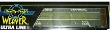 Weaver NYC 2 tone gray 40'  express box car, 3 or 2 rail