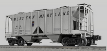 Lionel (Weaver) WM (speed letters) 34' ACF AC-2 covered hopper car, 3 rail