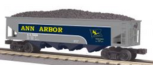 MTH Rail King Ann Arbor 3 bay hopper car, 3 rail