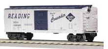 MTH Railking Reading 40' Box car (crusader) , 3 rail
