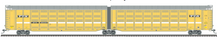 Pre-order for Atlas O BTTX (faded, black logo)  articulated auto carrier,  3 rail or 2 rail