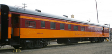 Golden Gate Depot Milwaukee Road  Dining car, 3 rail