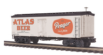 MTH Premier Prager/Atlas  Beer 36' wood reefer, 3 rail
