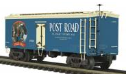 MTH Premier Post Road Ale 36' wood reefer, 3 rail