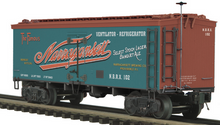 MTH Premier Narragansett Ale 36' wood reefer, 3 rail