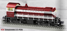 Pre-order for Lionel Legacy Susquehanna Alco S-2 switcher, 3 rail