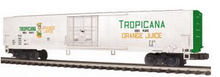 MTH Premier Tropicana (Green Ends )  60'  Reefer , 3 rail