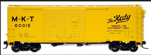 Atlas O MKT (yellow)1937 style 40' Double door steel box car, 3 rail or 2 rail