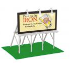 MTH O gauge Iron City Beer Lighted Billboard