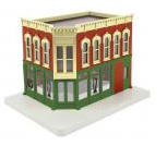 MTH O gauge Bills Golf Pro  Shop 2 story corner building w/blinking sign