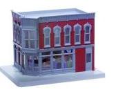 MTH O gauge Corner Drug store  -  2 story corner building