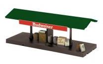 Mth O gauge Budweiser operating freight platform