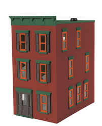 MTH O gauge Town House Miner brick red with black Shutters