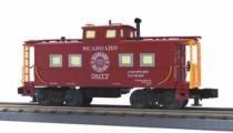 MTH Premier Seaboard Air Line (silver windows)  northeastern style center cupola caboose , 3 rail