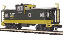 MTH Premier Caterpillar Extended vision  caboose , 3 rail