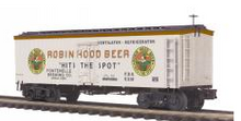 MTH Premier Robin Hood  Beer 36' wood reefer, 3 rail