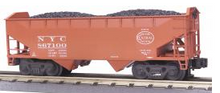 MTH Premier NYC 2-Bay Offset Hopper w/Coal Load, 3 rail