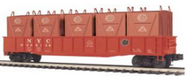 MTH Premier NYC  Gondola  w/ 5LCL  Containers, 3 rail