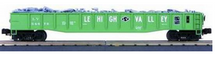 MTH Premier LV (green) Gondola with Junk Load, 3 rail