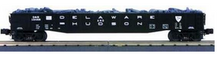 MTH Premier D&H (black) Gondola with Junk Load, 3 rail