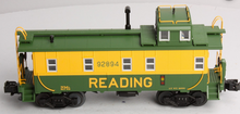 MTH Premier Reading rivited steel offset cupola Caboose , 3 rail