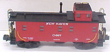 MTH Premier New Haven rivited steel offset cupola Caboose , 3 rail