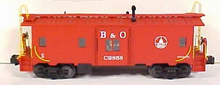 MTH Premier B&O Bay Window (red) Caboose , 3 rail