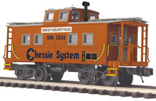 MTH Premier Chessie (WM) Center Cupola Orange Safety Caboose, 3 rail