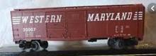 Weaver WM (speed letters)  1920's-1960's ARA 40' double door box car, 3 rail or 2 rail