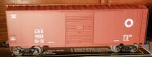 Weaver LNE (tuscan) 40' PS-1 box car, 3 rail or 2 rail
