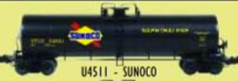 Weaver Sunoco  50' modern tank car, 3 rail or 2 rail