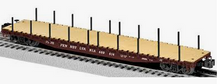 Lionel  PRR PS-4  50'  wood deck flat car