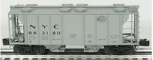 Lionel NYC  34'  PS-2  covered hopper car, 3 rail