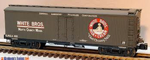 Lionel White Brothers  40'  Milk reefer with internal mile tanks,  3 rail