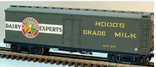 Lionel Hoods Milk  40'  Milk express  reefer with internal mile tanks,  3 rail